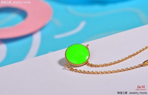 Dior 迪奥 Rose des vents系列 绿色釉漆手链 背面图.jpg
