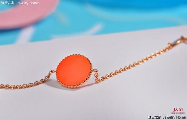 Dior 迪奥 Rose des vents系列 橙色釉漆手链 背面图.jpg