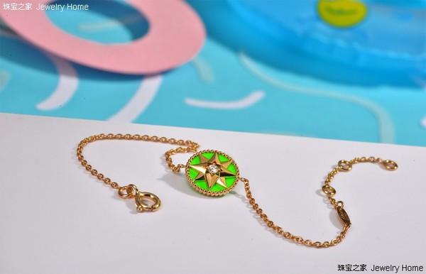 Dior 迪奥 Rose des vents系列 绿色釉漆手链 细节图.jpg