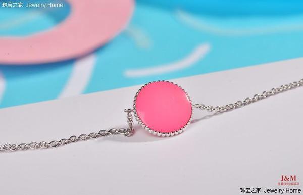 Dior 迪奥 Rose des vents系列 粉红色釉漆手链 背面图.jpg