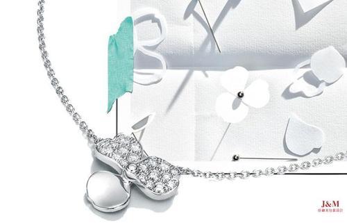 Tiffany&Co.蒂芙尼 全新花韻系列 鉑金鑲鉆項鏈.jpg