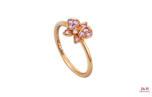 Cartier 卡地亞 Caresse d'Orchidées par Cartier 18K玫瑰金、粉色藍寶石戒指.jpg