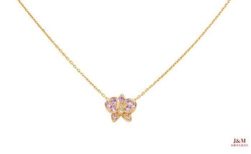 Cartier 卡地亚 Caresse d'Orchidées par Cartier 18K玫瑰金、粉色蓝宝石项链.jpg